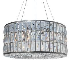 the monroe round clear crystal chandelier brushed nickel finish