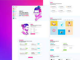 Online Resume Portfolio Personal Cv Template By Somrat Islam On Dribbble