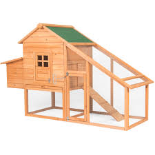 best choice s 75in backyard wooden en coop poultry nest box hen house cage natural green com