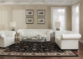 white 100 top grain leather chesterfield loveseat on tufted