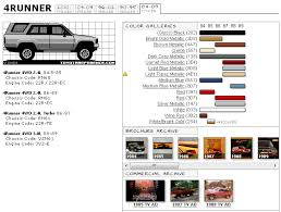 Toyota 4runner 1st Gen Color Code Chart Toyota 4runner