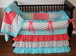 sa c tiffany baby girl crib bedding set with chevron and polka dots boy baby bedding crib sets custom girl baby bedding