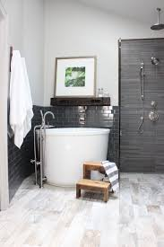 shocking bathroom standing tub design with brown wall and small for soaking styles inspiration files 22619