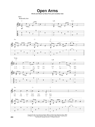 Lights Journey Tab Open Arms Solo Guitar Tab Print Sheet Music Now