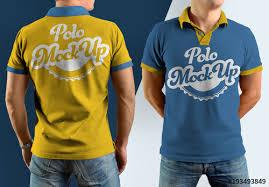 T Shirt Template Cool Polo Shirt Mockup Set Buy This Stock Template And Explore Similar