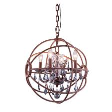elegant lighting geneva 4 light rustic intent chandelier with silver shade grey crystal
