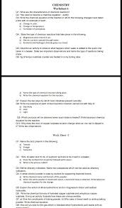 worksheet 1 ques no 5 chemistry wo rksheet l qi what are the characteristics of chemical reactions 02 v le need to balance a chemical equationl justim