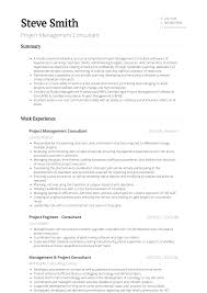 Consultant Cv Project Management Consultant Resume Samples And Templates