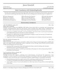 Consultant Resume Example Wonderful Sales Consultant Resume Objective Example Small Business Resumes For