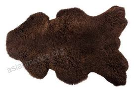 new luxury l 100 genuine brown chocolate 2 extra large sheepskin rug with extra thick