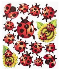 wall stickers 3d optics l sticker ladybug