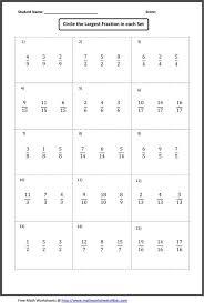 All Worksheets More Than Less For Kindergarten Fractio ~ Koogra