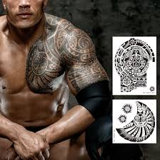 Amazoncom Large Tattoos Fake Temporary Body Art Stickers For Men