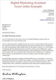 Marketing Assistant Cover Letter Chechucontreras Com