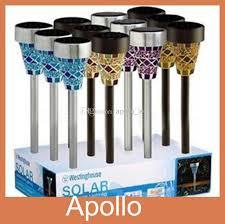 Online Cheap Glass Mosaic Solar Lawn Light Solar Garden Lights Solar Mosaic Garden Lights