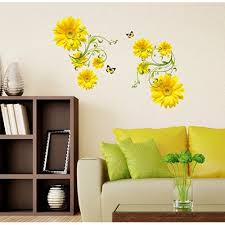 Small Picture Buy StickersKart Wall Stickers Flowers Yellow Daisy with Green