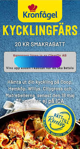 The products are marketed under well known brands, which stand for quality and good animal welfare. 20 Kr Smakrabatt Pa Kronfagel Kycklingfars Survivans Blogg