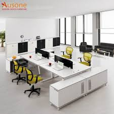 Office desk workstation Small White Melamine Office Desk Workstation With Long Side Cabinet Alibaba White Melamine Office Desk Workstation With Long Side Cabinet Buy