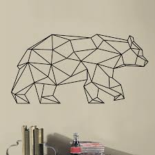 new design geometric bear vinyl wall sticker geometry animal series decals 3d wall art decals for home decoration in wall stickers from home garden on  on geometric bear wall art with new design geometric bear vinyl wall sticker geometry animal series