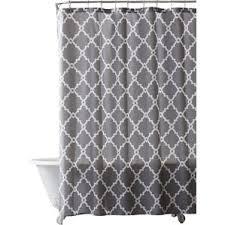 black and gray shower curtain. alta microfiber shower curtain black and gray