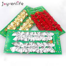 <b>JOY</b>-<b>ENLIFE 12pcs/lot</b> Pretty Bow Tie Christmas Tree Ornaments ...
