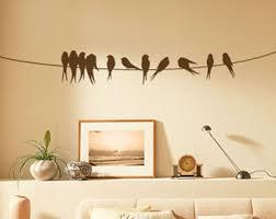 diy birds on a wire wall art