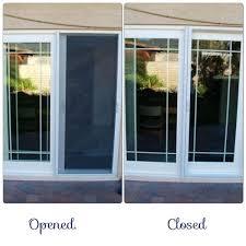 sliding glass door screen self closing design of patio screens