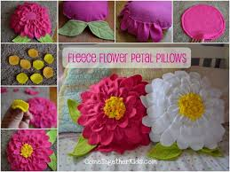 Creative Ideas - DIY Pretty Fleece Flower Petal Pillows