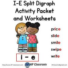 Ruled lines, short vowel sounds, consonant digraphs, and words to copy. I E Split Digraph Activity Packet And Worksheets By Kp Classroom