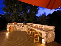 outdoor kitchen lighting ideas. Fascinating Outdoor Kitchen Countertop Lighting Ideas Plus Counter Light Chic With And Wood Plastic Composite Deck