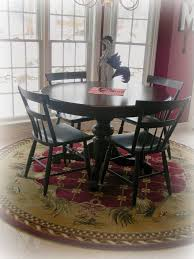 Rug Under Round Dining Table Ideas Furniture The Extraordinary Rug