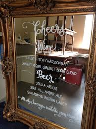 mirror bar calligraphy