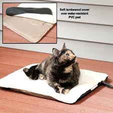 cat heating bed heated cat beds indoor outdoor heated pad for cats thermal self heating cat