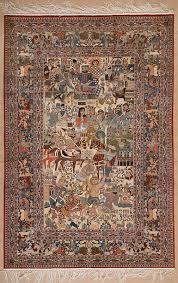 pure silk pict qum rug