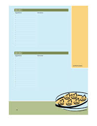 Food Recipe Template 44 Perfect Cookbook Templates Recipe Book Recipe Cards