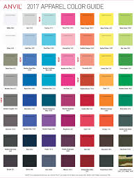 44 Unique Shirt Color Chart
