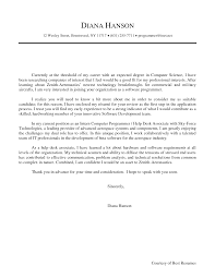 Beautiful Sample Cover Letter For Internship In Computer Science