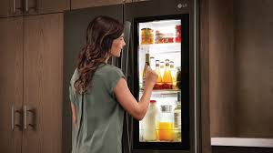 lg instaview fridges let you see through them with just a knock reviewed com refrigerators