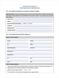 employment history verification form 11 work verification form samples free sample example format