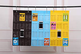 Chart Holder For Classroom Amazon Com Spacehome 12 Pocket Classroom Pocket Chart