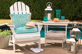 patio chair cushion turquoise color seat pad white wooden chair uv resistant all weather proof turquoise