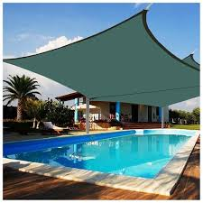 patio with square pool. 2x 18x18\u0027 Square Sun Shade Sail Uv Blocking Canopy Cover Garden Pool Patio Outdoor Color With