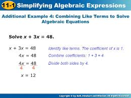 16 simplifying algebraic expressions