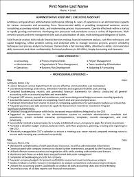 Executive Assistant Resume Examples Inspiration Administrative Assistant Resume Sample Template