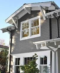 exterior window trim paint ideas. dark gray shingles, white trim, brown door. cabot stains spanish moss on · house paint exteriorcraftsman exterior window trim ideas t