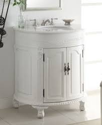 Adelina 32 Inch Antique White Single Sink Bathroom Vanity Antique