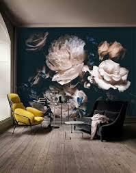 Zelfklevend Behang Bloemen Zwart Vintage 300x250 Huiskamer Bloem