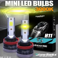 <b>2x Mini</b> H11 H8 H9 <b>110W 22000LM</b> LED Headlight Bulbs Lamp Low ...