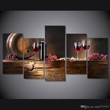 pls note it is unframed unstretched just paint on canvas if you need frame pls contact us  on modern framed wall pictures with new 5 panel modern oil painting style pictures no framed wine