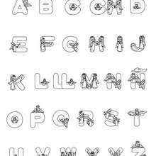 Spanish Alphabet Coloring Pages Coloring Pages Printable